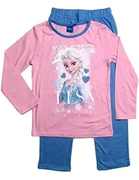 Frozen Pyjama Ökotex Standard 100 Die Eiskönigin 2017 Kollektion 98 104 110 116 122 128 Schlafanzug Elsa Blau-Rosa