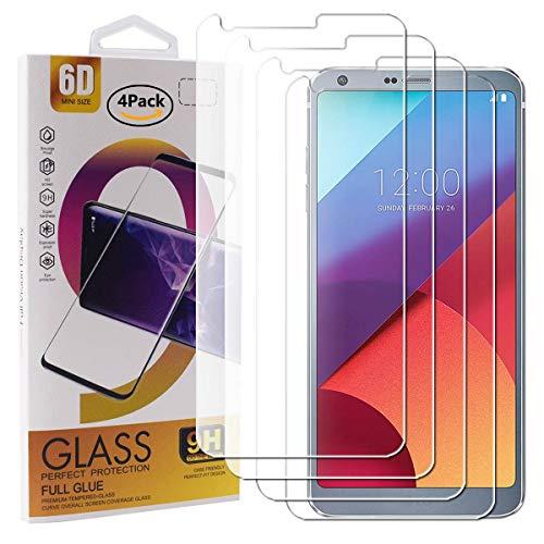 guran 4 pezzi pellicola protettiva in vetro temperato per lg g6 smartphone 9h durezza anti-impronte hd alta trasparenza pellicola