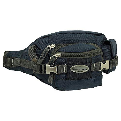 Geschenkset - exklusiver Ledershop24 Schlüsselanhänger + Herren & Damen Bag Gürteltasche Bauchtasche Hüfttasche Angeltasche Wimmerl Tasche ca. 25 cm Farbe rot blau