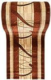 WE LOVE RUGS CARPETO Läufer Teppich Flur - Geometrisches Muster - Dicht Gewebt Teppichläufer - Läufer nach Maß -KIRTAN Kollektion - Braun Beige Creme - 120 x 400 cm