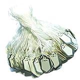 Baoblaze Etiquetas de Precio Blancas Etiqueta Rectangular Etiquetas Colgantes de Ropa Joyería Etiqueta de Marcado - 2