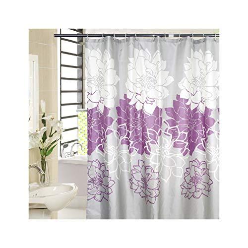 Amdxd tende da doccia per il bagno poliestere tenda da bagno viola peonia tenda della doccia 100x200cm