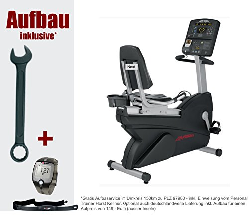 Sonderaktion inkl. Aufbau. Club Serie Lifecycle Liegeergometer - Life Fitness CSLR - inkl. Polar FT1, Brustgurt und Bodenmatte