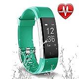 Letsfit Fitness Tracker Fitness Armband Schrittzähler mit Pulsmesser Aktivitätstracker Pulsuhren Bluetooth Smart Armband Uhr Schrittzähler mit Schlafmonitor Kalorienzähler kompatibel mit Smartphone