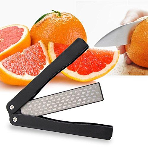 ACCOCO Wetzstähle Taschenmesserschärfer, 400/600 Grit Folding Diamant Messerschärfer Doppelseitige Wetzstein für Outdoor Camping Küche Garten (Diamant Messerschärfer)
