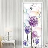 KWXHG Die Tür gegen die Tür zum Schlafzimmer renoviert selbstklebend Glas Schiebetür Schiebetür Badezimmer Schlafzimmer Tür Poster an der Wand Aufkleber AufkleberDassKleine