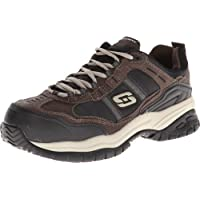 Skechers Men's Work Relaxed Fit Soft Stride Grinnel Comp, Brown/Black - 11.5 D(M) US
