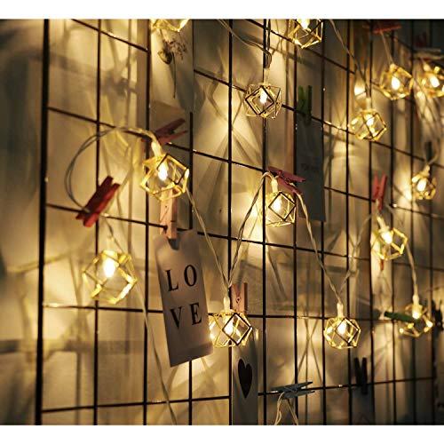 Lichterketten batteriebetrieben & USB Powered, LED Metall Lichterketten für Party, Hochzeit, Weihnachten, Halloween, Haus, Garten Dekoration Indoor/Outdoor