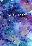 2019 - 2020: Wochenplaner ab KW14   April 2019 bis Dezember 2020 Kalender   1 Woche auf 1 Seite Planer   DIN A5 Format Terminkalender   Soft Cover Matt   Aquarell - Terminplaner Print