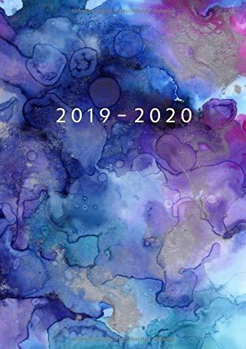 2019 - 2020: Wochenplaner ab KW14   April 2019 bis Dezember 2020 Kalender   1 Woche auf 1 Seite Planer   DIN A5 Format Terminkalender   Soft Cover Matt   Aquarell