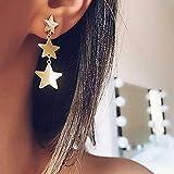 Jovono Bohemian Ohrringe mit Legierung Stern Anhänger für Damen und Mädchen