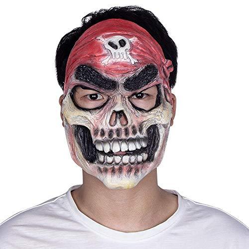 (Circlefly Halloween Pirat Latex Maske Horror Film Leistung Requisiten Skull Maske)