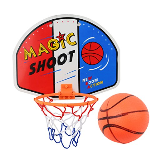 Albeey Basketball Hoop Set Indoor Mini Basketball Hoop At The Office Room Mini Basketball Board Kids Sports (1#) (Basketball Hoop Klein)
