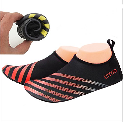 Zhuhaixmy Unisex Waterproof Skin Shoes Ultra Light Sport Sandals Anti-skid Swimming Shoes Red