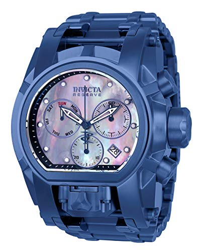 Invicta Men's Reserve Blue Steel Bracelet & Case Swiss Quartz Watch 26709