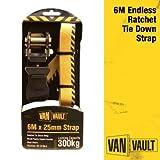 Van Vault S10674 6 m x 25 mm Endless Ratchet - Yellow