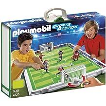 playmobil 4725 jeu de construction terrain de football et joueurs