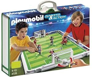 Playmobil 4725 - Jeu de construction - Terrain de football et joueurs