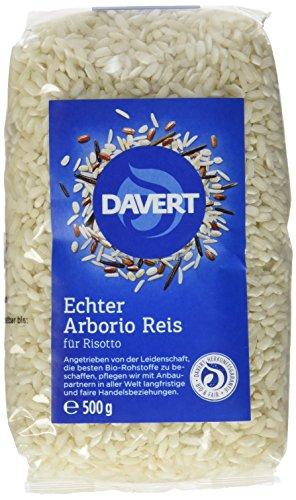 Davert Arborio Reis weiß für Risotto, 4er Pack (4x 500 g) - Bio