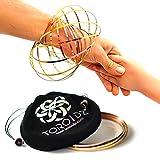 Toroidz  Flow Ring (Oro Rosa) + Bolsa de Viaje, Siente el increíble Juguete de Flujo Mágico. - 3D Arm Slinky para el Brazo - Ciencia, Circo - Regalo Interactivo para Todas Las Edades