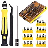 Schraubendreher Set, 45 in 1 Feinmechaniker Schraubendreher Satz mit 42 Bits Präzision Torx Schraubendreher Bit Set Screwdriver Kit Set für Handy iphone Laptop PC Tablet und andere Elektronik