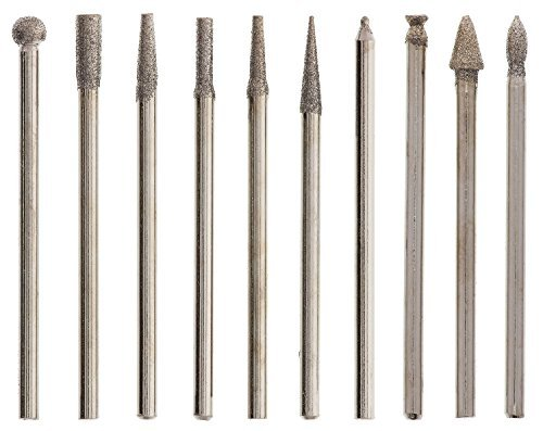 Diamond Tip Drill Bits (Beadsmith 10-Piece Diamond 150 Grit Tip Drill Bits for Engraving, 2.35mm by Beadsmith)