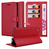 Cadorabo Book Case works with ZTE Nubia N2 in CANDY APPLE