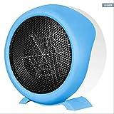 GXQL Riscaldatore mini asciugacapelli portatile riscaldatore ventilatore caldo ventilatore elettrico domestico risparmio energetico bagno aria calda elettrica,blue