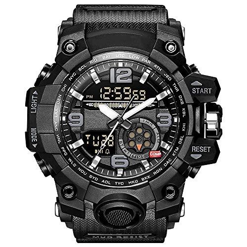YZPNSSB Vigilanza elettronica maschile forze speciali militari tattici per adulti militari multi-funzione sport impermeabile orologio esterno (Color : Black)