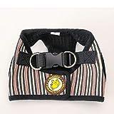 Ziehen Sie gepolsterte verstellbare Hundegeschirr-Weste an,Black,L