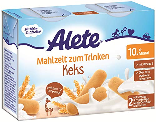 Alete Mahlzeit zum Trinken Keks, praktisch für zuhause & unterwegs, ab dem 10. Monat, 400 ml