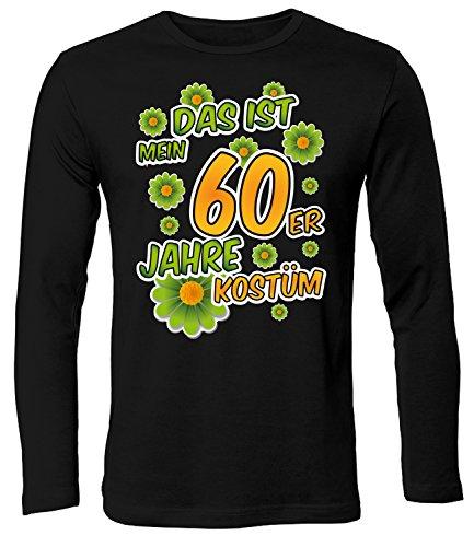 love-all-my-shirts Karnevalskostüm - Faschingskostüm - Halloween - DAS IST MEIN 60ER JAHRE KOSTÜM 791(HL-SW) Gr. ()