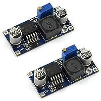 DZS Elec 2PCS LM2596 DC-DC Step Down Variable Volt Regulator Input 3.2V-40V Output 1.25V-35V Adjustable Buck Converter Electronic Voltage Stabilizer Power Supply Module