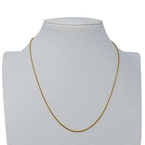 fancyfactory Unisex Schlangenkette Gold Halskette für Damen Herren Ketten Frauen Geschenk Männer (Länge: 40cm; Breite: 1,61mm)