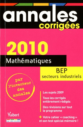 Mathématiques BEP secteurs industriels