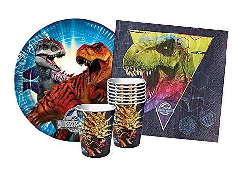 DesignWare Jurassic World Party - Set I 8 STK. Pappbecher, 8 STK. Pappteller, 16 STK. Servietten - für 8. Personen