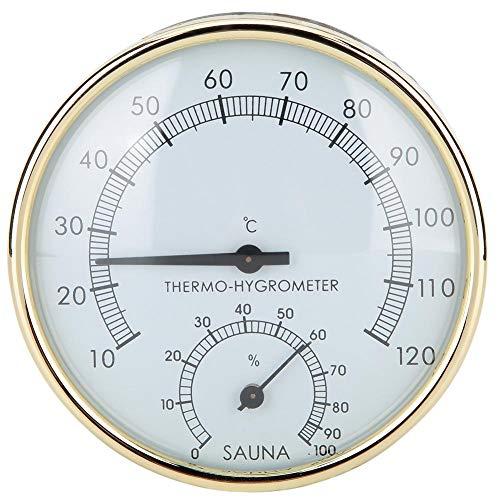 Acouto Digitalthermometer, Saunaraum Digitalthermometer Hygrometer Feuchtetemperaturmesser für Saunazubehör Saunaraum Wohnkultur