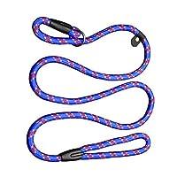 Blovess 1.2m Pet Dog Nylon Leash Rope Adjustable Loop Slip Lead (Blue)