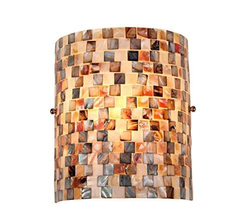 Chloe Beleuchtung ch3cd28bc08-ws1Shelley Mosaik einflammig Wand Wandleuchte mit 21cm Breite (Mosaik-wandleuchte Licht)