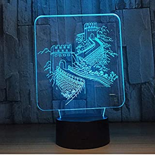 YHCGSL LED 3D Licht Bunte Touch Acryl Licht USB Büromöbel Dekoration Weihnachten Kinder Geschenk Spielzeug