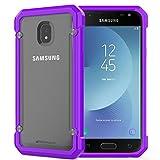 TECHGEAR® Fusion Armour Coque Protective Solide Svelte Anti-Choc Compatible pour Samsung Galaxy J3 2017 (Séries SM-J330) (Violet/Givré)