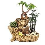 DRAULIC Gartenarbeit Blumentopf Pflanzenständer Pflanzengefäße Korrosionsbeständig Atmungsaktiv Robust mit Loch am Boden für Schlafzimmer Wohnzimmer Büro