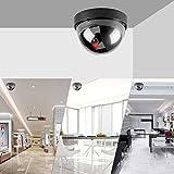 JOOAN Attrappe Dome Wasserdicht Überwachungskamera Dummy Kamera mit blinkenden IR-LEDs