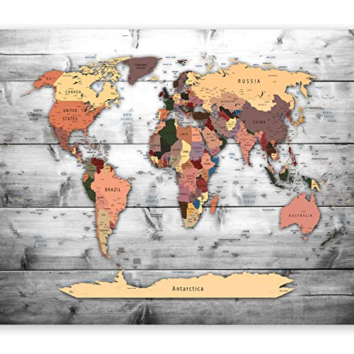 murando - Papier peint intissé 200x140 cm - Papier peint - Tableaux muraux déco XXL - Carte du monde k-B-0009-a-c