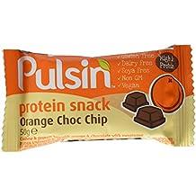 PULSIN Riegel Orange Choc Chip Protein Snack, 18er Pack (18 x 50 g)