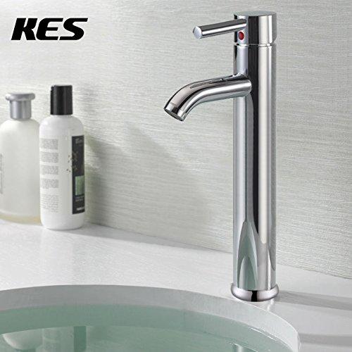 TougMoo Euro contemporaneo moderno bagno wc vaso Vanity lavello rubinetto di altezza,cromo/nichel spazzolato,Chrome