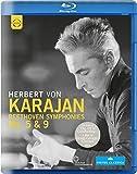 Beethoven:Symphonies 5 & 9 (Herbert von Karajan, Philharmonie Berlin, 1977) [Blu-ray]