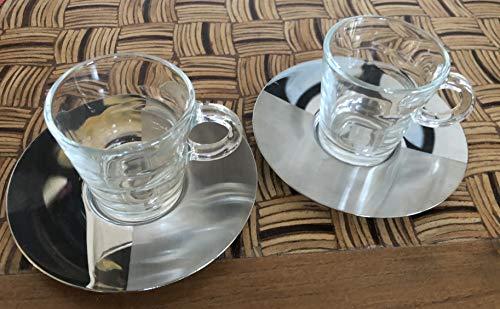 Nespresso Lot de 2 tasses à expresso en verre 80 ml