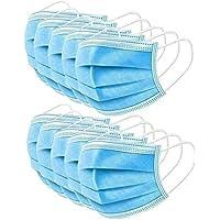 Auifor Resistente al polvo, puente nasal de ajuste suave, correas elásticas para los oídos, desechable, paquete familiar, azul(A,50 PC)