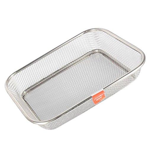 Sharplace 1Set Silber Waschkorb Stahl Sieb Waschen Obst Gemüse Deep Colander Deep Colander